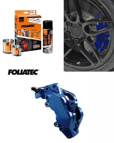 Foliatec Car Motorbike Brake Caliper Paint Kit Blue Gloss Brush On High Temp